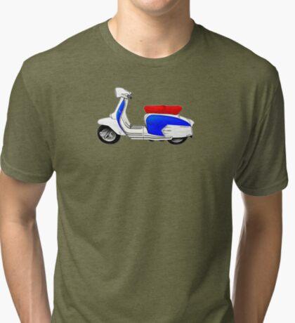 Scooter T-shirts Art: SX200 Dealership Blue Scooter Design Tri-blend T-Shirt