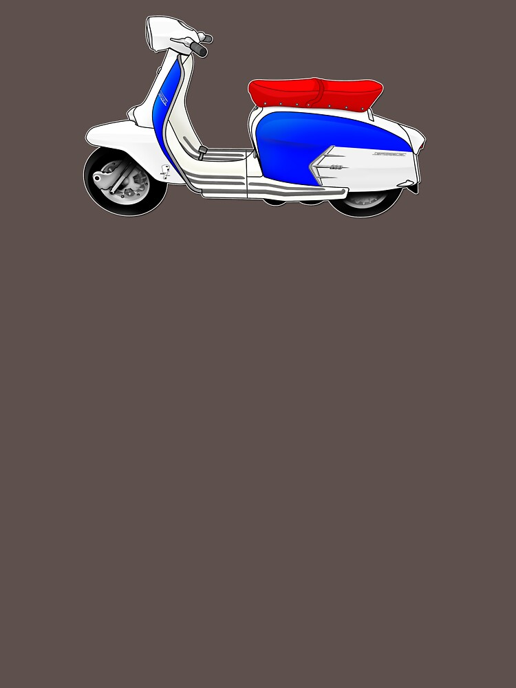 Scooter T-shirts Art: SX200 Dealership Blue Scooter Design by yj8dsk57
