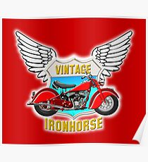 Vintage Ironhorse - Red Chief Poster