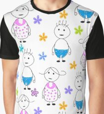 Kids drawing funny seamless pattern Graphic T-Shirt