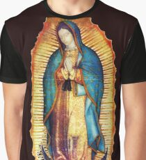 Our Lady of Guadalupe Virgin Mary Tilma Graphic T-Shirt