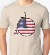 American Flag + Vintage Bike = Freedom Bike Unisex T-Shirt