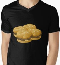 Wetdryvac Presents Glitch: Food hearty groddle sammich Men's V-Neck T-Shirt