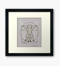 Vitruvian Rick Framed Print