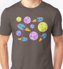 Spaceship Pattern Unisex T-Shirt