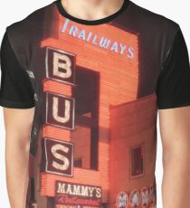 1980's Chicago Trailways Bus Station Graphic T-Shirt