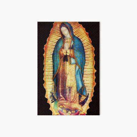 Our Lady of Guadalupe Virgin Mary Tilma Art Board Print
