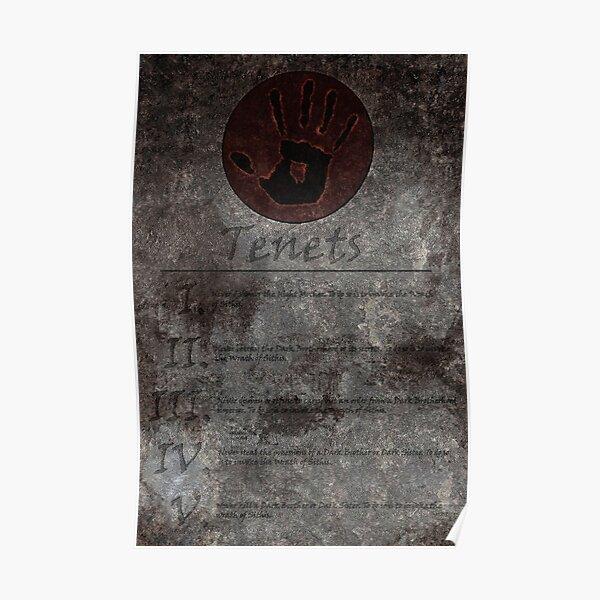 Dark Brotherhood's 5 Tenets Poster
