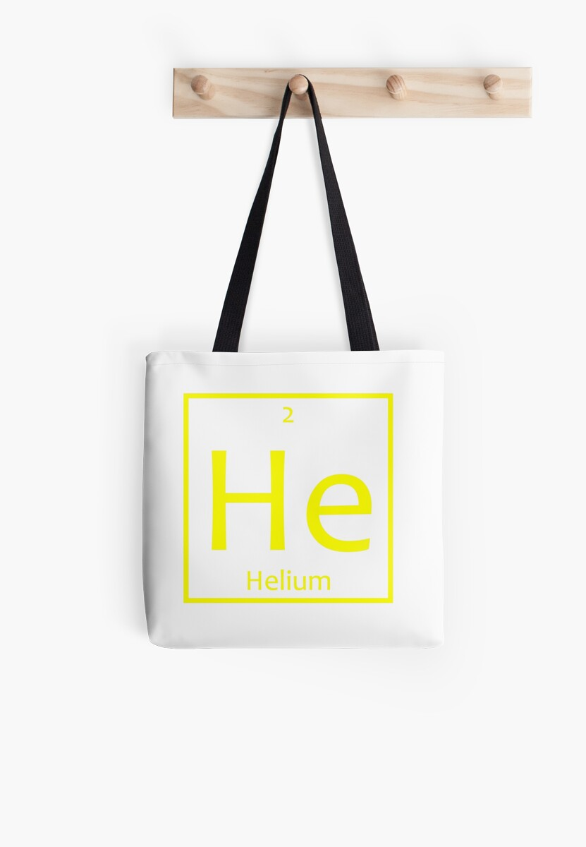 Helium he chemical symbol tote bags by the elements redbubble helium he chemical symbol by the elements buycottarizona
