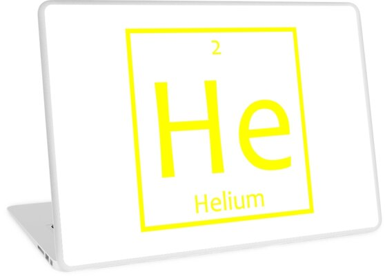 Helium He Chemical Symbol Laptop Skins By The Elements Redbubble