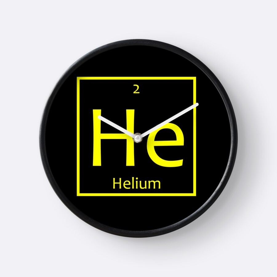 Helium he chemical symbol clocks by the elements redbubble helium he chemical symbol by the elements buycottarizona