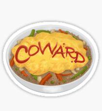 Omurice Coward - English Sticker