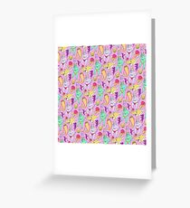 Paisley Pink Monsters Greeting Card
