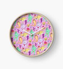 Paisley Pink Monsters Clock