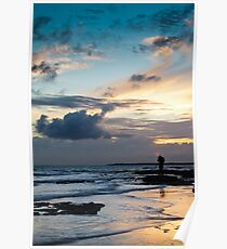 Photographing at Sunset Poster