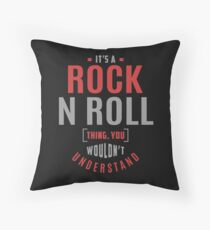 Rock N Roll Gifts Throw Pillow