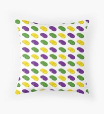 Mardi Gras Beans Throw Pillow