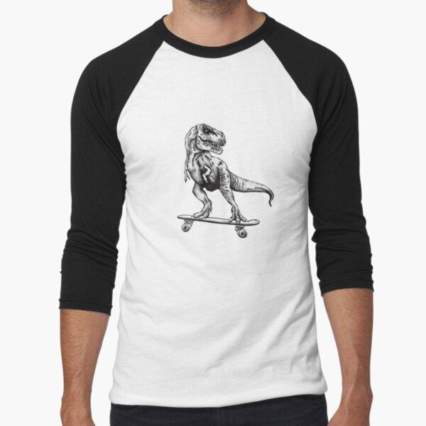 T-Rex Do Skate Baseball ¾ Sleeve T-Shirt