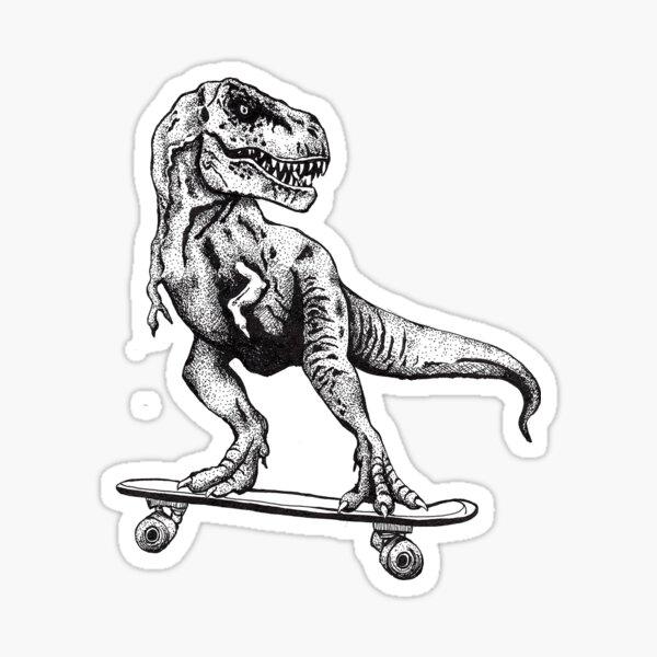 T-Rex Faire du patin Sticker