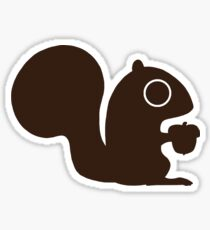 Squirrel with Nut Sticker