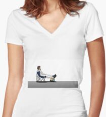 Formula 1 - Fernando Alonso deckchair Women's Fitted V-Neck T-Shirt