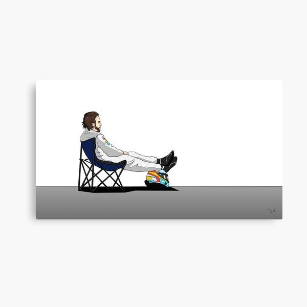 Formule 1 - Chaise longue Fernando Alonso Impression sur toile