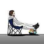 Formula 1 - Fernando Alonso deckchair by Drawuz