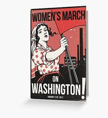Womens March on Washington 2 (Vector Recreation) Greeting Card