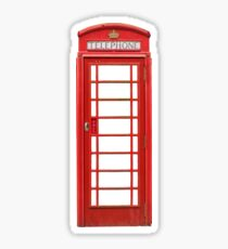 British Telephone Box Sticker