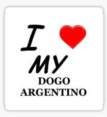 dogo argentino love Sticker