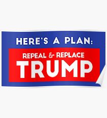 Repeal & Replace Trump Poster