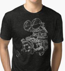 """""""Shottie"""" - Supercharged V8 Engine Tri-blend T-Shirt"""