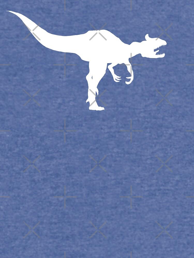 Cryolophosaurus Dinosaurier Silhouette (weiß) von GoldenArchelon