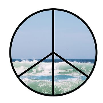 Ocean Wave Peace Sign by tbootz