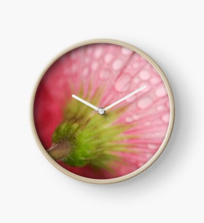 Softly Gerbera Clock