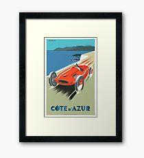 Travel Poster Cote DAzure French Riviera Framed Print