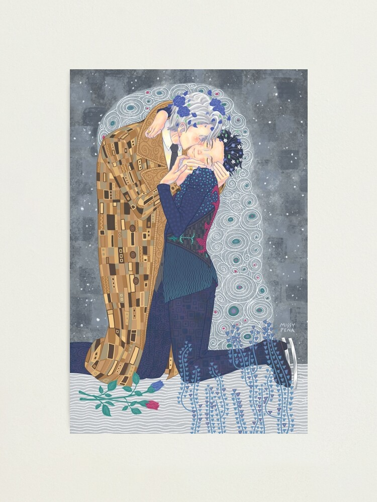 Alternate view of Kiss on Ice Photographic Print
