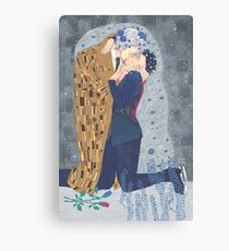 Kiss on Ice Canvas Print