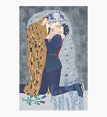 Kiss on Ice Photographic Print
