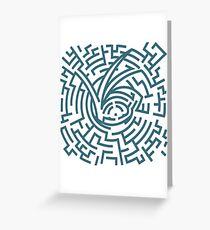 A Series of Unfortunate Events Maze Greeting Card