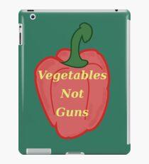 Vegetables, Not Guns iPad Case/Skin