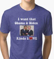Obama and Biden BFFS Tri-blend T-Shirt