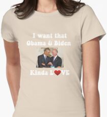 Obama and Biden BFFS Womens Fitted T-Shirt
