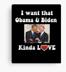 Obama and Biden BFFS Canvas Print