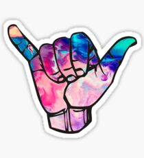 bright marble shaka Sticker