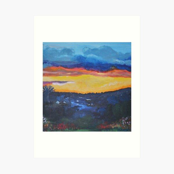 Scottish Sunset on the Campsie Hills Art Print