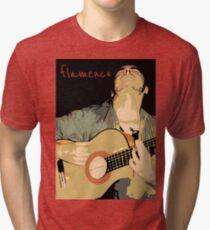 Flamenco guitarra Camiseta de tejido mixto