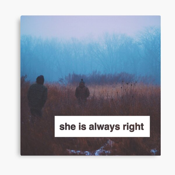 """""""She is Always Right"""" - pg. 117 Canvas Print"""