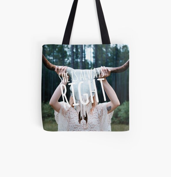 """""""She is Always Right"""" - pg. 19 All Over Print Tote Bag"""