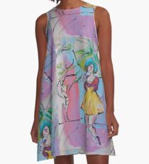 Walk in the Park A-Line Dress